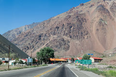 Les Andes Argentine Photo stock