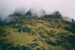 Les Andes couverts en brume Image stock