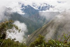 Les Andes et les nuages sur Inca Trail peru beau chiffre dimensionnel illustration trois du sud de 3d Amérique très Aucune person Photographie stock libre de droits