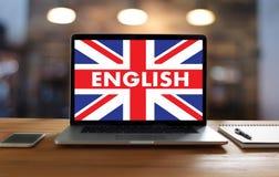 Les ANGLAIS (éducation de langue des Anglais Angleterre) apprennent le LAN anglais Photographie stock