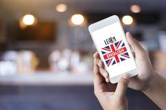Les ANGLAIS (éducation de langue des Anglais Angleterre) apprennent le LAN anglais Images stock