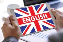 Les ANGLAIS (éducation de langue des Anglais Angleterre) apprennent le LAN anglais Images libres de droits
