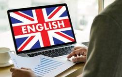 Les ANGLAIS (éducation de langue des Anglais Angleterre) apprennent le LAN anglais Photographie stock libre de droits