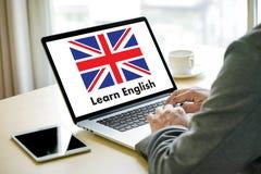 Les ANGLAIS (éducation de langue des Anglais Angleterre) apprennent le LAN anglais Image stock