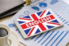 Les ANGLAIS (éducation de langue des Anglais Angleterre) apprennent le LAN anglais Image libre de droits