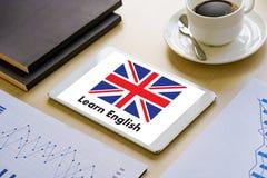Les ANGLAIS (éducation de langue des Anglais Angleterre) apprennent le LAN anglais Photos stock