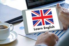 Les ANGLAIS (éducation de langue des Anglais Angleterre) apprennent le LAN anglais Photo libre de droits
