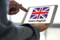 Les ANGLAIS (éducation de langue des Anglais Angleterre) apprennent le LAN anglais Photo stock