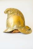 Les Anglais autre rangent le casque en laiton du feu de Merryweather, vue de côté Photographie stock
