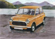 Les Anglais Leyland Mini illustration stock