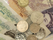 Les Anglais Sterling Pounds Images stock