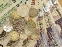 Les Anglais Sterling Pounds Photo libre de droits