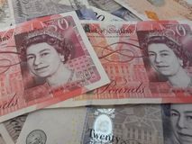 Les Anglais Sterling Pounds Photos stock