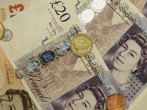 Les Anglais Sterling Pounds Photographie stock libre de droits