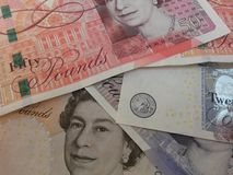 Les Anglais Sterling Pounds Photo stock