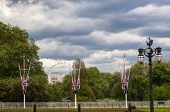 Les Anglais Union Jack marquent le mail, Londres, Angleterre photos stock