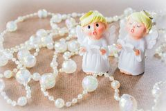 Les angles chantent, avec le fil des perles en cristal Photo libre de droits