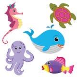 Les animaux de mer ont placé illustration stock