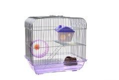 Les animaux familiers mettent en cage sur un blanc Photographie stock libre de droits