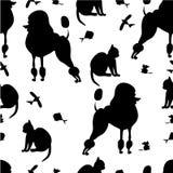 Les animaux familiers silhouettent le modèle sans couture Photo stock