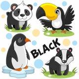 Les animaux sauvages sont noirs Photo libre de droits