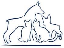 Les animaux stylisés gentils ont isolé le logo Photo libre de droits
