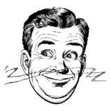 Les années 50 de cru mangeuses d'hommes illustration de vecteur