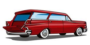 les années 50 ont dénommé le chariot de gare illustration de vecteur