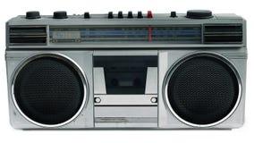 les années 80 dénomment le lecteur de cassettes portatif Photo libre de droits