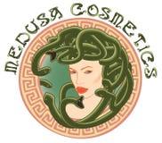 les années 1920 Art Nouveau Style Cosmetics Logo illustration stock