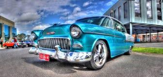 les années 1950 Chevy Bel Air bleu-clair Photo libre de droits