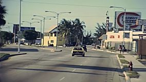 Les années 1970 de routes de Fort Lauderdale banque de vidéos