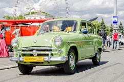 Les années 60 russes soviétiques rares de Moskvich de voiture Photographie stock libre de droits