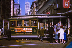 Les années 1960 San Francisco Trolley de vintage Photo libre de droits