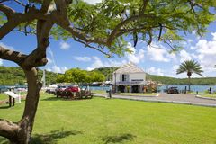 Les Antilles, les Caraïbe, Antigua, chantier de construction navale du Nelson, le bureau du trésorier Image stock