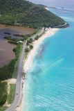 Les Antilles, les Caraïbe, Antigua, plage de Darkwood Photo libre de droits