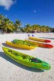 Les Antilles, les Caraïbe, Antigua, St Mary, Jolly Harbour, plage Photographie stock libre de droits
