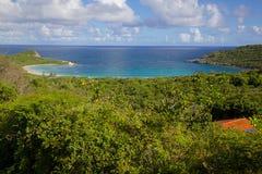Les Antilles, les Caraïbe, Antigua, St Philip, Half Moon Bay Photos libres de droits