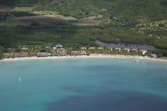 Les Antilles, les Caraïbe, Antigua, vue au-dessus de côte sud Photo libre de droits