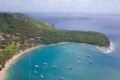 Les Antilles, les Caraïbe, Antigua, vue de port anglais Photographie stock