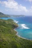 Les Antilles, les Caraïbe, Antigua, vue de Sugar Loaf Hill vers le point de Proctors photo stock