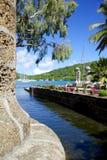 Les Antilles, les Caraïbe, l'Antigua, chantier de construction navale du Nelson, la maison de bateau et le grenier de voile Photographie stock