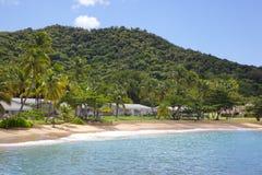 Les Antilles, les Caraïbe, l'Antigua, le St Johns, la baie de Hawksbill et la plage Photo libre de droits
