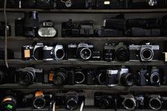 les appareils-photo filment vieux Photo stock