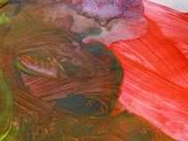 Les aquarelles peignent peint avec la brosse sur un papier Images libres de droits