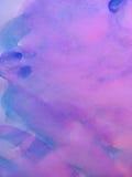 Les aquarelles peignent peint avec la brosse sur un papier Photo libre de droits