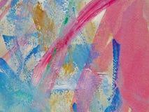 Les aquarelles peignent peint avec la brosse sur un papier Images stock