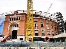 Les arènes de Bullring Barcelone Photographie stock