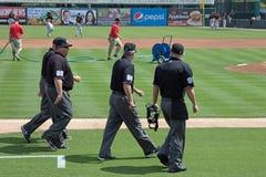 Les arbitres sont sur The Field Image stock