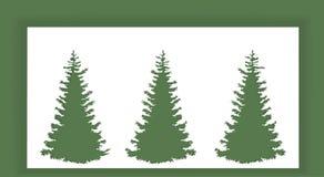 Les arbres abstraits de nouvelle année Images libres de droits